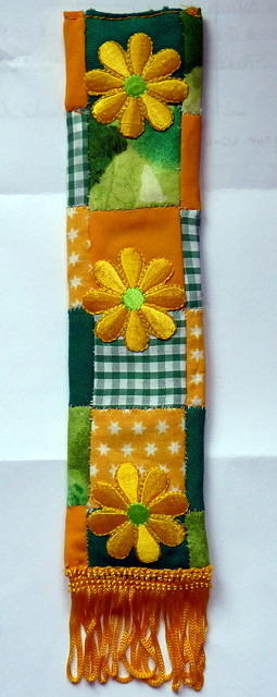 Quilted book mark