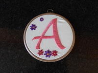 Initial Embroidery Door Hanger A